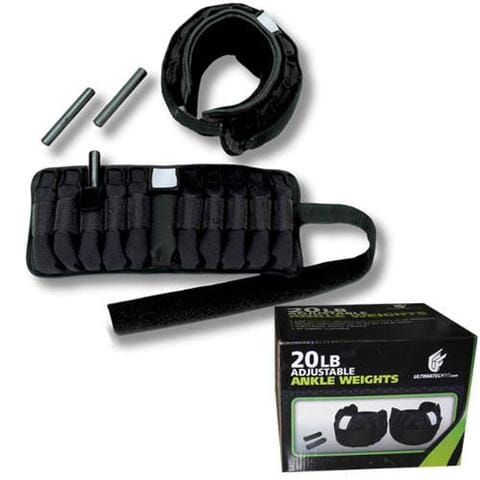 Ultimately Fit 20lbs Adjustable Ankle Weights