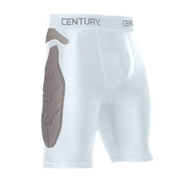 Century Padded Compression Shorts White Youth SM
