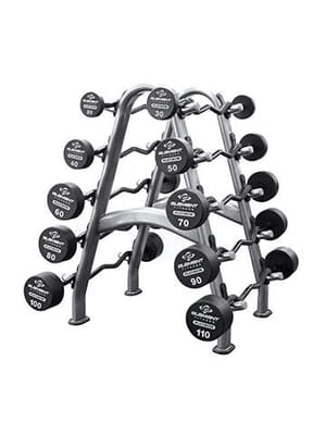 Round Bars Element Fitness Commercial Polyurethane Round Straight Bar Set 20lbs - 110 lbs (Default)