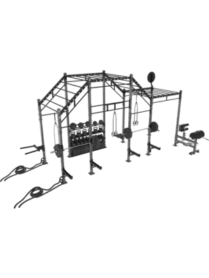 FreeMotion Fit Rig 20' Monkey Bar Rig With Accessories