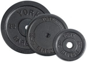 "35 lbs. YORK 1"" Std Contour Cast Iron Plate - Black"
