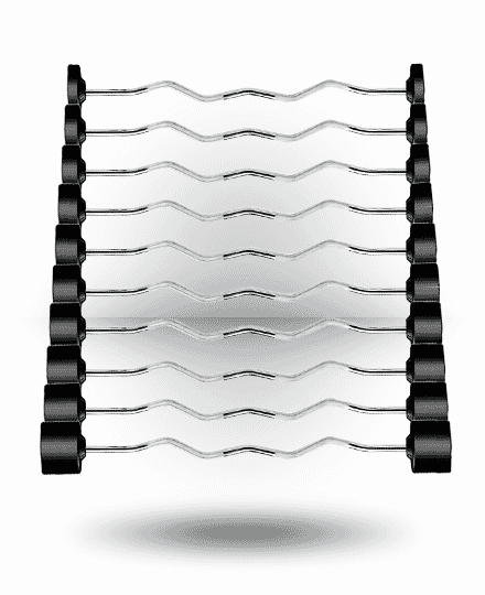 20 - 110 lb YORK Rubber Fixed Pro Curl Barbell Set