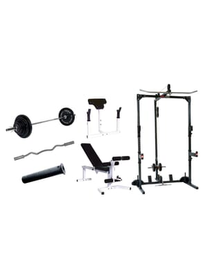 York Barbell Basic Training Cage With Barbell System
