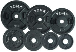 15 kg YORK Cast Iron Olympic Plate (Uncalibrated)