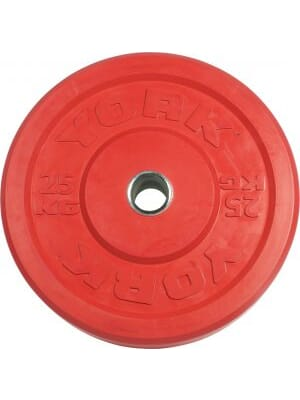 YORK USA 25 KG Red Rubber Training Bumper Plate