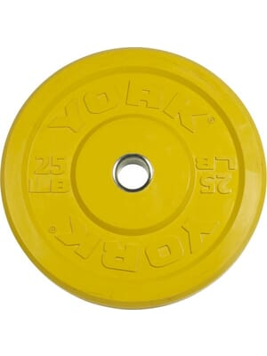 YORK USA 15 KG Yellow Rubber Training Bumper Plate