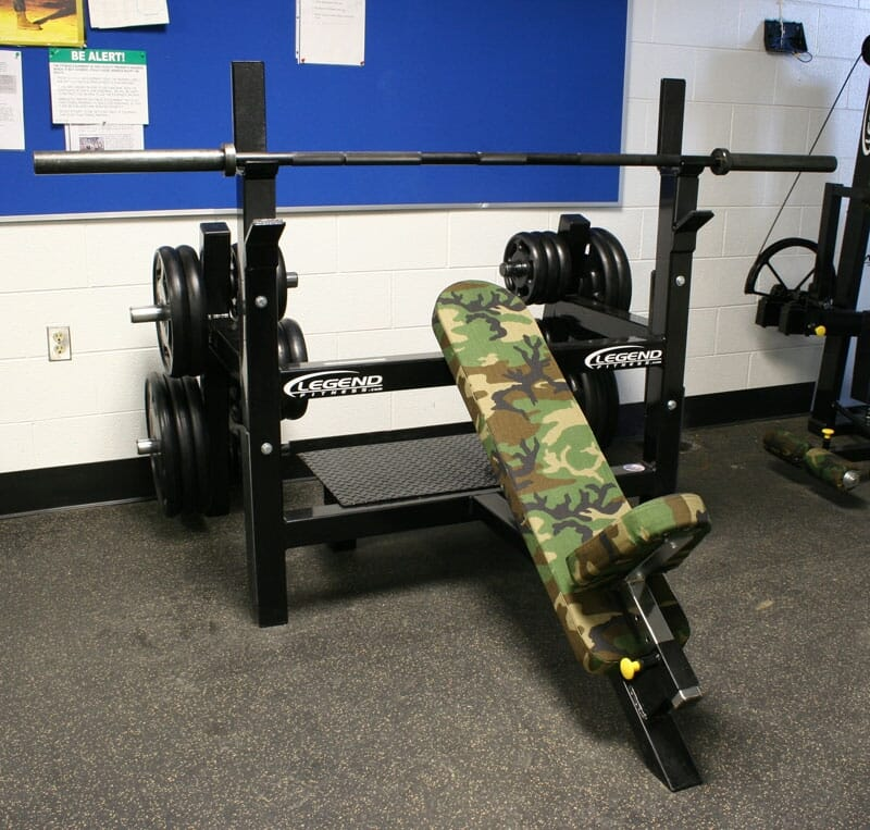 Legend Olympic Incline Bench with Plate Storage