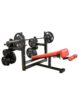 Legend Olympic Decline Bench with Plate Storage