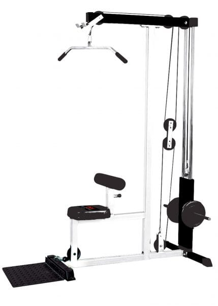FT Lat Machine White Frame/Black Upholstery