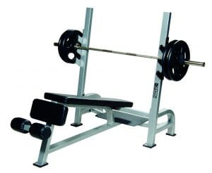 ST Olympic Decline Bench w/ Gun Racks - Silver