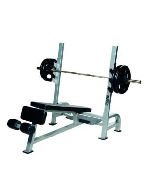 ST Olympic Decline Bench w/ Gun Racks - White