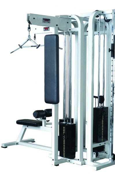 ST Tricep Station - Silver 200 lb weight stack