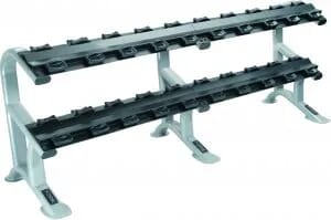 2 - Tier ETS Dumbbell Rack for Pro-Style Dumbbells (10 Pairs)