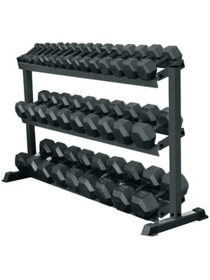 YORK 3-Tier Pro-Hex Rack - Black