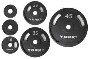 York USA 45 lb. Cast Iron Olympic Pick Up Plate - Black