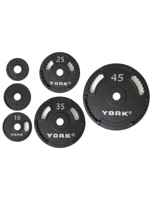 45 lbs. Int'l Cast Iron Olympic Plate - Black