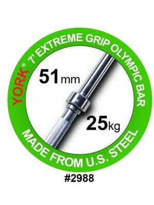 "7' 'Extreme Grip 2"" Olympic Bar"