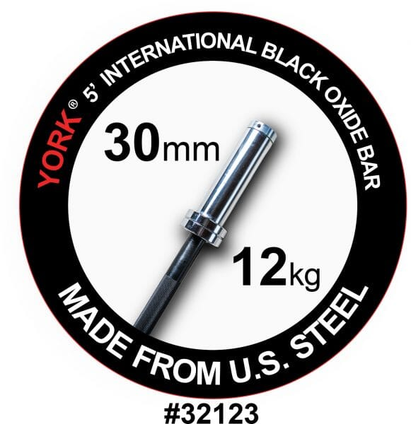5' Int'l. Black Oxide Bar 28 mm