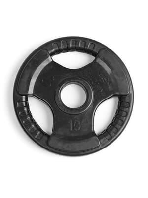 Element Fitness Virgin Rubber Commercial Olympic 3 Grip Handle plate 10 lbs