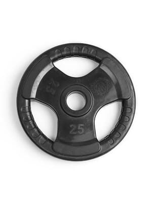 Element Fitness Virgin Rubber Commercial Olympic 3 Grip Handle plate 25 lbs