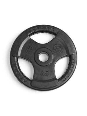 Element Fitness Virgin Rubber Commercial Olympic 3 Grip Handle plate 35 lbs