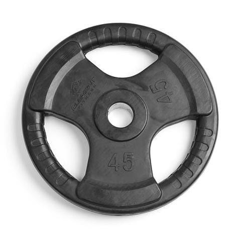 Element Fitness Virgin Rubber Commercial Olympic 3 Grip Handle plate 45 lbs