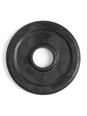 Element Fitness Virgin Rubber Commercial Olympic 3 Grip Handle plate 5 lbs