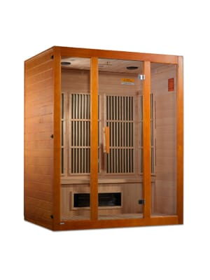 "Maxxus ""Alpine"" Dual Techology 3 person Low EMF FAR Infrared Sauna Canadian Hemlock"