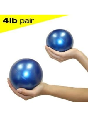 Jasmine Fitness Pilates Weighted balls 4lbs Pair