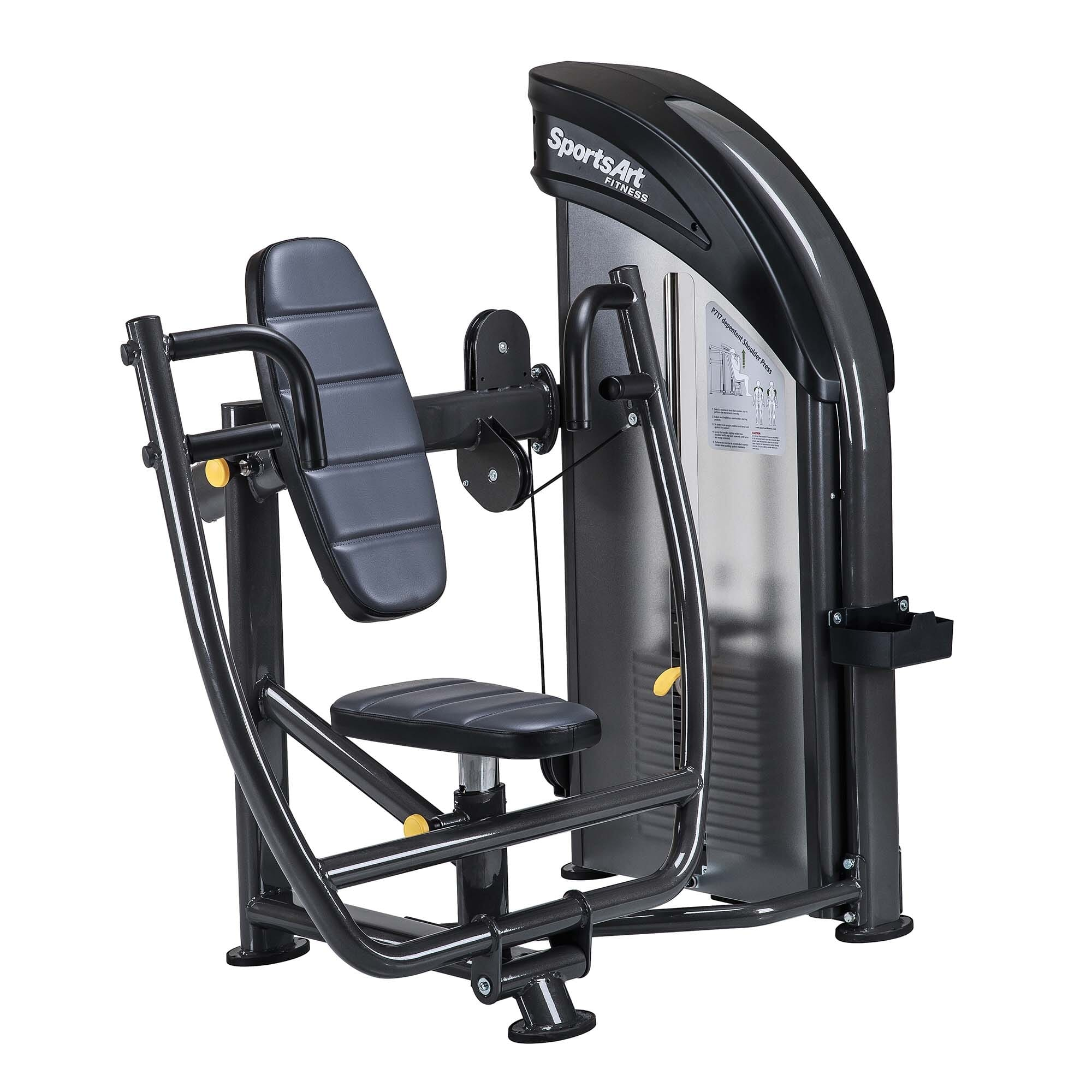 Unit Weight 376.2 lbs / 171 kg Dimensions 44.1 x 58.3 x 57.5 in / 112 x 148 x 146 cm Weight Stack 176 lb / 80 kg Max User Weight 500 lbs / 227.3 kg Starting Weight 14.3 lbs / 6.5 kg