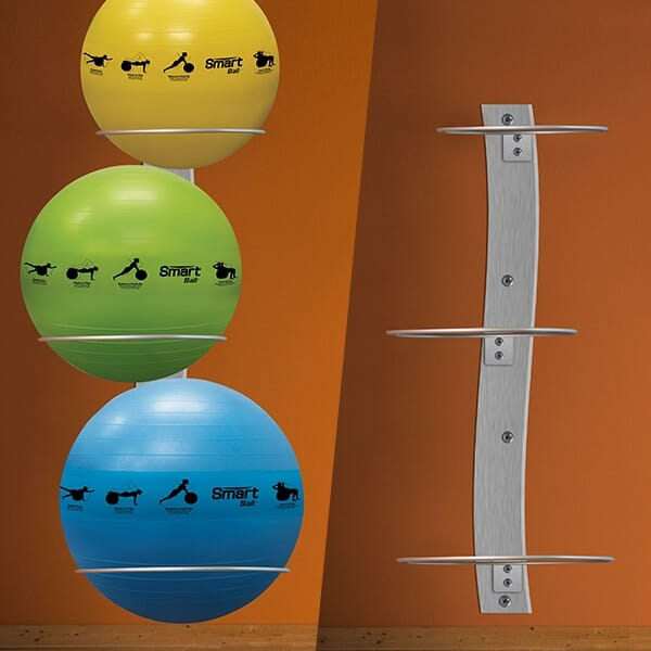Prism Smart Wall Mounted Stability Ball Rack Package